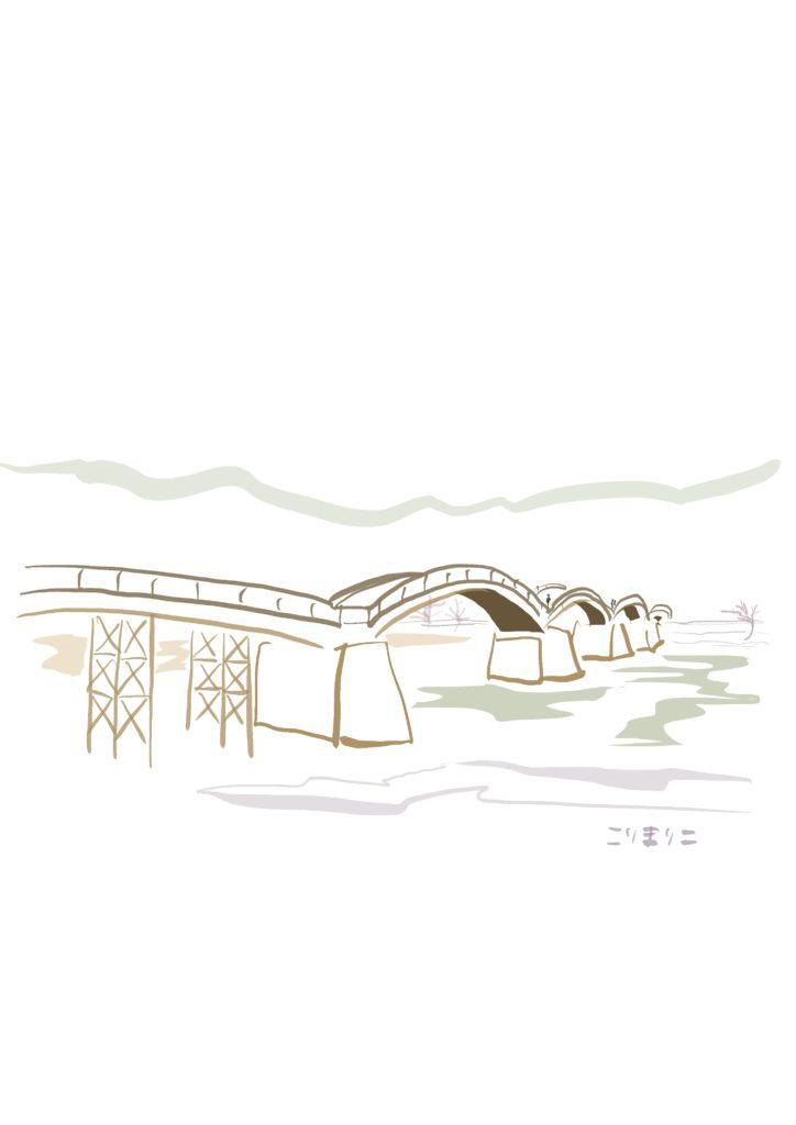 デジタルイラスト 錦帯橋