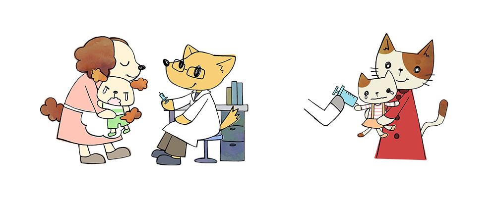 デジタルイラスト 犬・猫