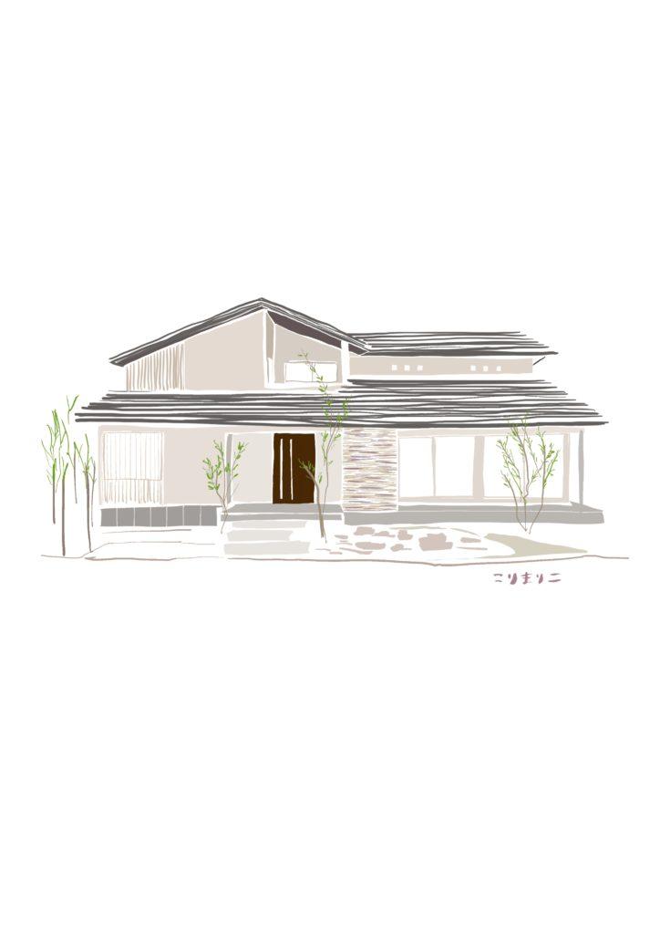 デジタルイラスト『家』