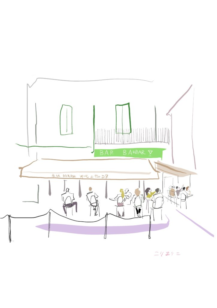 デジタルイラスト『カフェ』