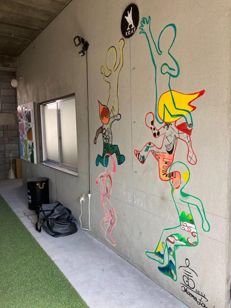 はじめて壁に絵を描いた